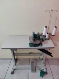 Máquina Overloque semi-industrial com Mesa