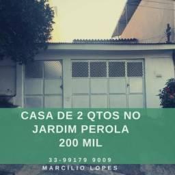 Casa de 2 qtos no bairro Jardim Perola