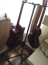 Suporte triplo pedestal para violao guitarra