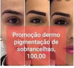 Promoção dermo pigmentação de sobrancelhas