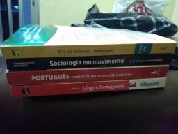 Livros português, sociologia e artes