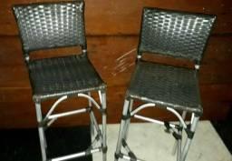 Vendo 11 mesas altas e 22 cadeiras de alumínio,  solo 3,300 reais