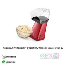 Pipoqueira Elétrica Gourmet sem Óleo 220V 1200W Copo Dosador Vermelha