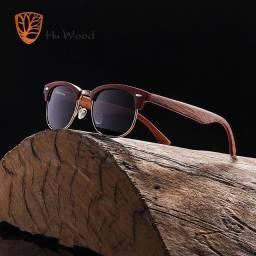 Hu Wood Clubmaster Original em madeira