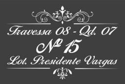 Placa Personalizada endereço