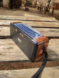 Caixa de som, com carregamento Solar