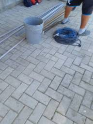 Serviço de paver e lajota meio fio drenagem