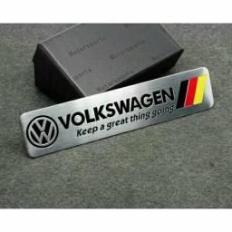 Adesivo Logotipo Volkswagen de Metal para Porta Malas de Volkswagen V/W Polo/Tiguan
