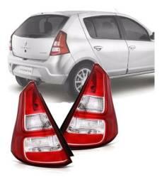 Lanterna Traseira Renault Sandero 2012 2013 2014 Vermelha