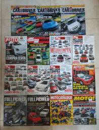 Lote de revistas automotivas, tuning e som.