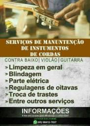 Consertos e manutenção de Violão guitarra e contrabaixo.