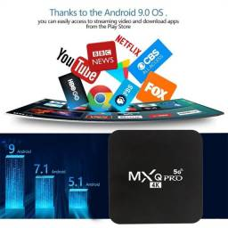 MXQ Pro 4K 2.4G/5GHZ Wifi Android 9.0 Quad Core Smart TV Box Media Player 1G+8G