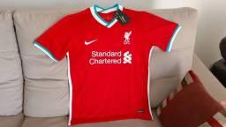 Camisa Liverpool - Uniforme Masculino - Vermelho - Envios por Sedex