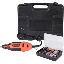 Título do anúncio: Kit Micro Retífica com 113 Acessórios RT18KA - Black + Decker