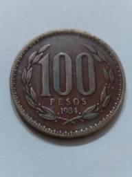 100 Pesos 1984 Republica de Chile