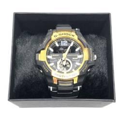 Relógio Casio G-shock GravityMaster Pulseira Preta Caixa Dourada Com Garantia Produto Novo