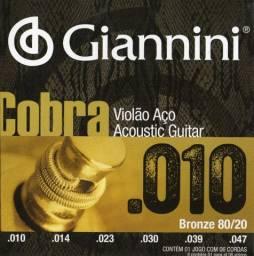Encordoamento p/ Violão 010 jogo de Corda acoustic guitar cobra fosforo