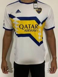 Camisa Boca Juniors - Uniforme Masculino - Branco - Envio por Sedex