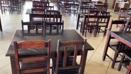 32 jogos de mesas com pedra de granito e cadeiras para restaurante
