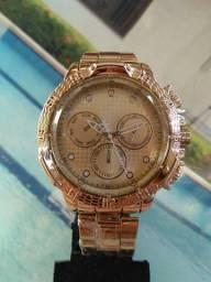 Relógio super design estiloso masculino