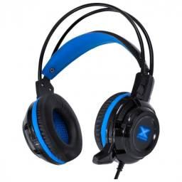 fone headset vx gaming taranis v2 p2 com mic preto e azul