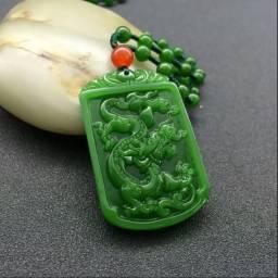 Colar de jade dragão do zodíaco