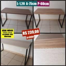 Mesa industrial 1.20m x 60 cm Nova - Entrego e Monto