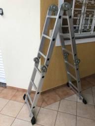 Escada de aluminio articulada de 12 degraus