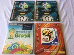 Álbuns de Figurinhas (4 unidades) Capas FIFA 2006 (dois), 2010, 2014.