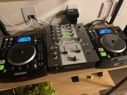Setup Cdjs Denon Dns 1200 + Mixer Pioneer DJM 250