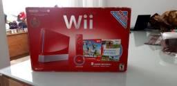 Nintendo Wii vermelho Edição Aniversário Mário 25 anos.