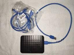 Cabo de Dados Hd Externo 3.0 Usb-a Para Micro Usb 60 Cm Azul