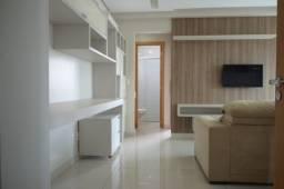 Flat mobiliado, confortável, 42 m². Setor Oeste, Goiânia-GO