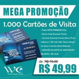 1.000 Cartões - Art Premium 250g - Verniz Total Frente
