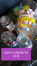 Lindos copos de coleção vintagem  nunca usados barato