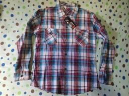 Camisa Polo Xadrez Manga Longa P