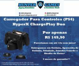 Carregador Duplo Para Controles de Playstation 4 (PS4) 12x Sem Juros Original HyperX