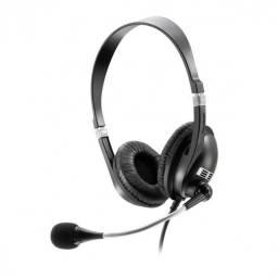 fone de ouvido com microfone premium acoustic preto p2 ph041