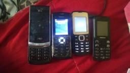 Vendo os 4 celulares