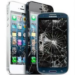Conserto celular com tela quebrada
