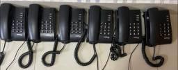 Seis 6 aparelhos Intelbras Com Fio, Pouco Uso Estado de Novo