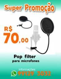 Pop filter para microfones em geral