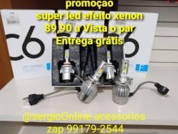 Super led efeito xenon H1 H3 H4 H7 H11 HB3 HB4 H27 H16