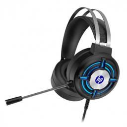 fone headset gamer p2,usb com iluminacao led h120 preto