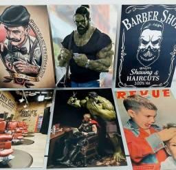 Lindos quadros para barbearia imperdivel