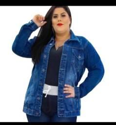 Jaqueta jeans plus size tamanho G1