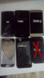 Vendo 5 celular pra retirada de peças ou conserto