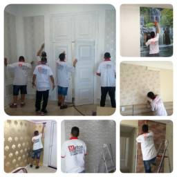 Instalação Colocação de papel de parede e adesivo