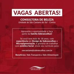 Vaga para Consultora de Beleza - Sóbrancelhas São Caetano do Sul