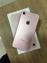 iPhone 7 rose 32g impecável só 1200